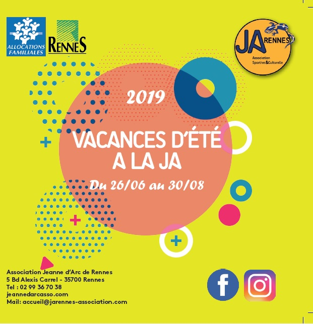 Accueil de loisirs Vacances Juillet / Août 2019