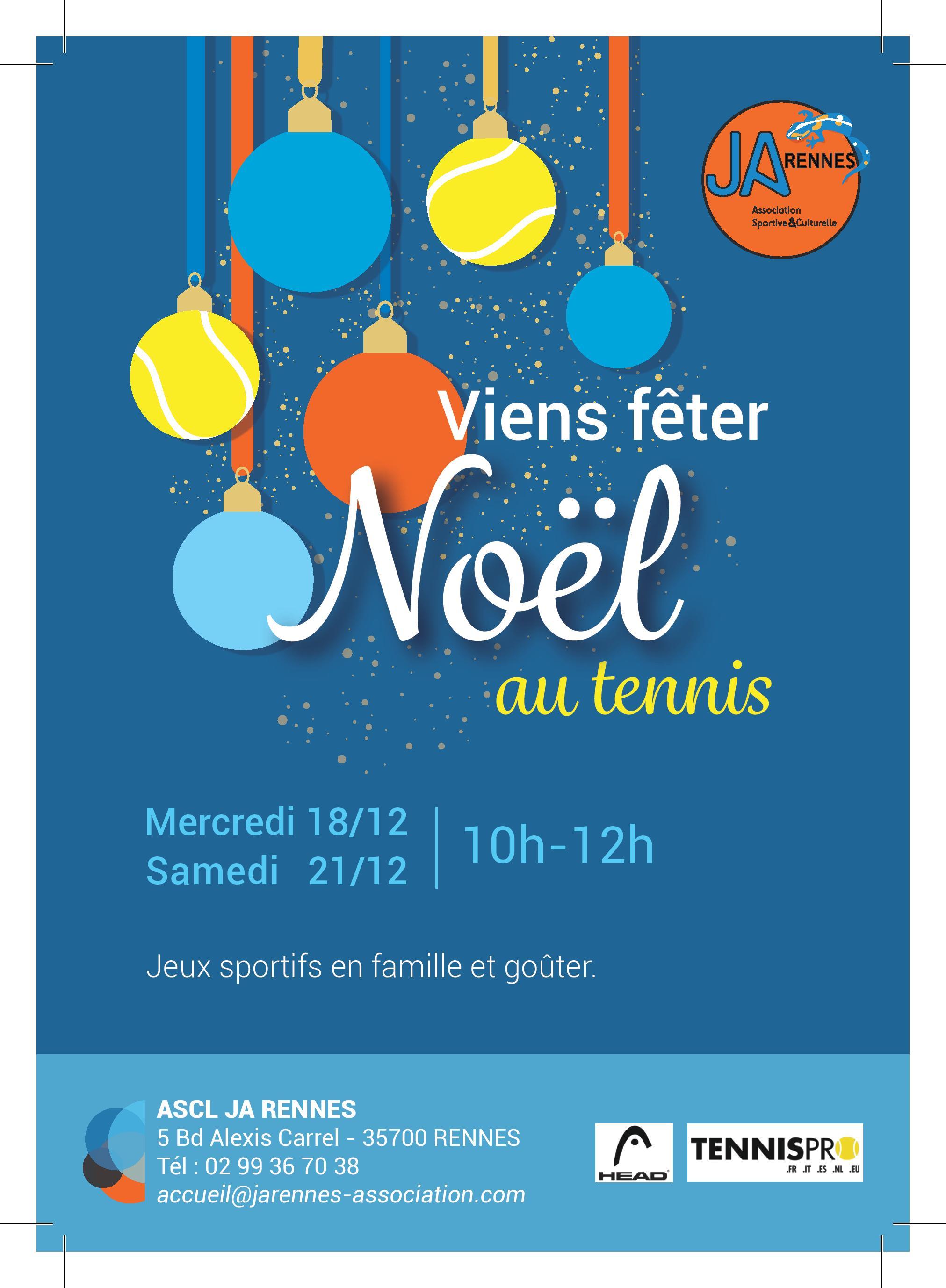 «Viens Fêter Noël au Tennis»