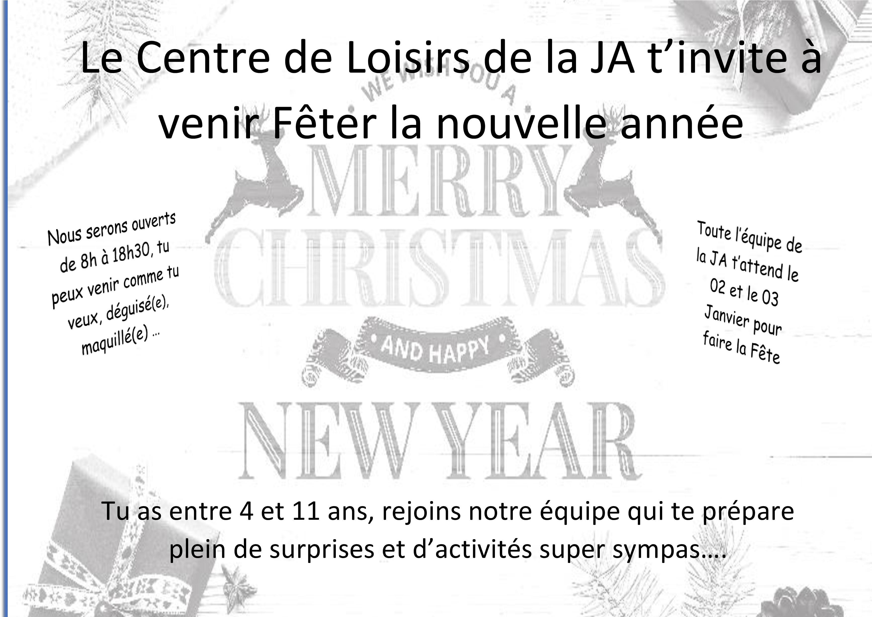 Vacances de Noël 2019-2020