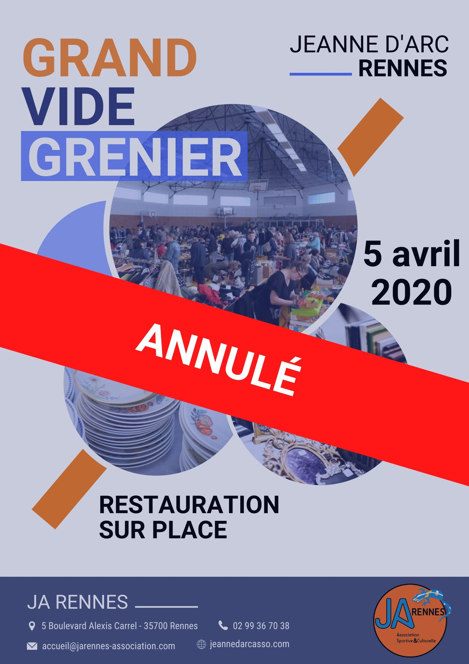 ANNULATION VIDE GRENIER 2020